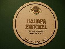 Beer Bierdeckel Coaster ~^~ Brauerei HALDENGUT HALDEN ZWICKEL Bier ~ SWITZERLAND