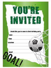 FOOTBALL BOYS BIRTHDAY PARTY INVITATIONS INVITES CHILDREN KIDS UNISEX