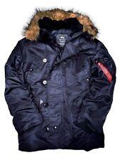 Alpha Industries Parka n3b replica Blue invierno chaqueta Navy #5269