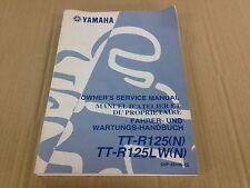 Revue technique Manuel d'atelier du proprietaire Yamaha TT-R125(N) TT-R125LW(N)