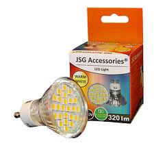 24 x 5050 SMD= 50W HALOGEN GU10 LED BULB 4.5W SPOT LAMPS 3200-3500K Warm White