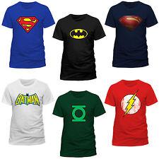 DC Comics Superhero Film Superhelden Logo T-Shirt Männer Men Freizeit Sommer