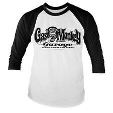 Officially Licensed Gas Monkey Garage Logo Baseball Long Sleeve T-Shirt (S-XXL)