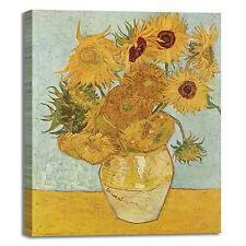 Van Gogh i girasoli design quadro stampa tela dipinto telaio arredo casa