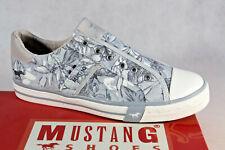 Mustang Slipper Sneakers Sportschuhe Halbschuhe hellblau/ grau Leinen 5024 NEU!