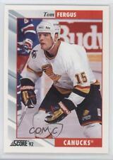 1992-93 Score #190 Tom Fergus Vancouver Canucks Hockey Card