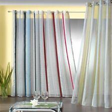 Gardine Ösenschal chic in weiß gestreift weichfliesende Qualität Vorhang Typ203