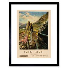 ART PRINT TRAVEL TOURISM GLEN OGLE HIGHLAND PERTHSHIRE SCOTLAND RAILWAY NOFL1240