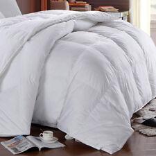 White Duck Down Comforter- Solid 300 Thread Count Shell All Seasons Duvet Insert