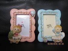 Fotorahmen, Bilderrahmen, für Baby`s/Kinder, blau oder rosa