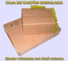 CAJAS DE CARTON MARRON 22x15x10 cm CARTON REFORAZDO ENVIOS PAQUETERIA CAJAS