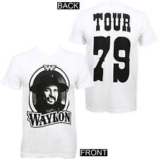 Authentic WAYLON JENNINGS WJ '79 Tour Slim Fit T-Shirt White S M L XL 2XL NEW