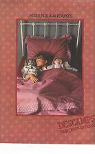 """PUBLICITE 1979   DESCAMPS linge de maison draps """"petite fille aux poupées"""""""