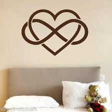Sticker Décoration Murale Coeur Amour à l'infini, 10x14 cm à 30x43 cm (COEUR015)