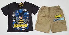 BNWT new Batman Top Tshirt T-Shirt shorts outfit Set boys kids