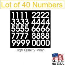 Lot of 40 White or Black Vinyl Mailbox,Tool Box,Locker Numbers Decal -Avant Gard