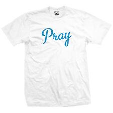 Pray Kingpin T-Shirt - Script Christian God Jesus Lord Amen Tee - All Colors