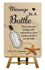Sable de plage message dans une bouteille Mariage Personnalisé Signe / Poster