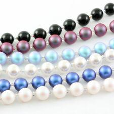 Argento Bracciale 19cm+3cm con SWAROVSKI 5810 Tondo Perle & 5328 Perline