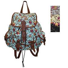 Owl Bag Ladies Shoulder School Canvas Body Backpack College Girls Rucksack