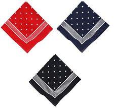 Bandana a punti classici, misura:  55 x 55 cm, colori: rosso, blu e blu scuro