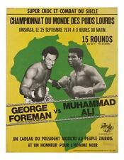 Muhammad ali contre george foreman 1974 art toile poster print boxe cassius clay