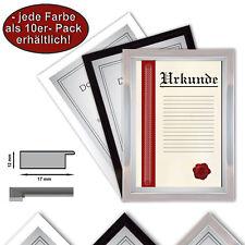 10 x A4 marco Certificado, 21x29,7 marcos de fotos, marcos de la foto A4, negro
