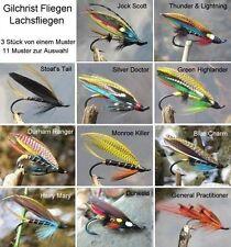 GILCHRIST FLIEGEN. 3 x FULL DRESSED LACHSFLIEGEN. 11 MUSTER ZUR AUSWAHL