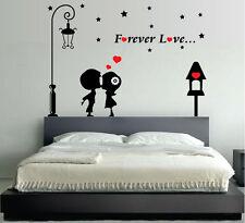 WALL STICKERS ADESIVI MURALI Forever Love INNAMORATI LOVE AMORE Cuore CAMERA