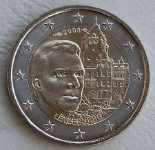 """2 euros de Luxemburgo 2008 """"castillo de montaña"""" unz"""