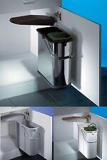 Wesco Schwenk Abfalleimer Vario, 19 L, Küchen Mülleimer, Einbau Abfallsammler