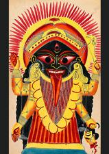 Hindu Goddess: Kali Holding a Demon's Head. Art Print/Poster