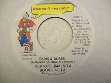 "Red Rose- Guns & Roses 7"" Reggae 45 How Yu Fi Sey Dat"