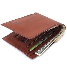 Men's Leather Bifold Money Clip Short Wallet Credit Card Bifold Bag Purse Pocket