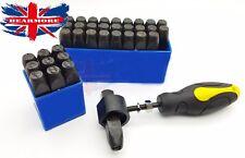 12 mm Estuche De Sellos Punch Set Acero Metal Die Herramienta Artesanía Letras Alfabeto y Números