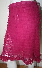 MOSCHINO CHEAP & CHIC Fuschia Cotton Mesh Skirt NEW 46