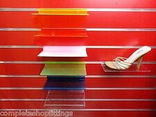 SLATWALL SLAT BOARD DISPLAY SHELF/ SHELVES MULTIPLE SIZE AND PACKS: SHOE, BAGS