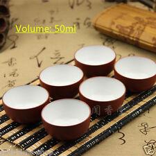 6pcs/lot tea cup marked 25ml 50ml yixing zisha purple clay tea cup kungfu teacup