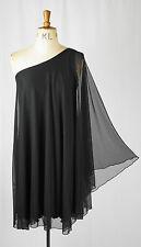 Baylis & Knight Black Sheer Sleeve STUDIO 54 Glam 70's Bat Wing Batwing Dress
