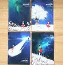 'la Luna' B5 Forrado Cuaderno diario de escritura diario de Cielo Azul Niña Escuela De Viaje