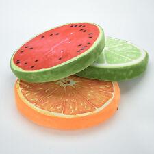 New Round Pillow Plush Cushion Orange Kiwi Watermelon Fruit Seat Toys Seat Pad