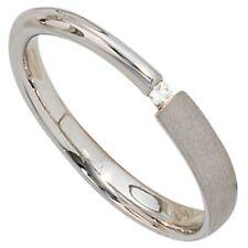 Ring Damenring, Diamant Brillant, 925 Silber teilmattiert, für Damen, Silberring
