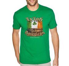 Mens Irish American USA Flag Pride St. Patricks Day Clover Beer T-Shirt