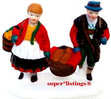 Dept. 56 Buying Bakers Bread Girl & Boy carrying Basket Alpine 56197