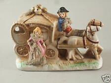 ROMANTIQUE ! CARROSSE DE CENDRILLON, céramique et dentelle, ancien, chevaux