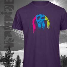 Camiseta Orgánica wolfride PLATO suspensión completa, Ciclismo Camiseta-Púrpura