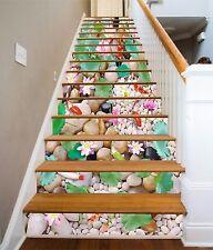 3D Stones Flowers 1 Stair Risers Decoration Photo Mural Vinyl Decal Wallpaper AU