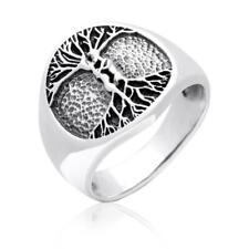 925er Sterling Silber Baum des Lebens Lebensbaum Keltische Knoten Lovers Ring