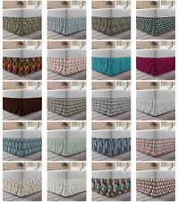 Ambesonne Abstract Symbol Bedskirt Elastic Wrap Around Skirt Gathered Design