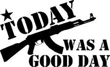 Good Day Vinyl Sticker AK47 ICE CUBLE NWA RIFLE 7.62 KALASHNIKOV RUSSIA MAGPUL
